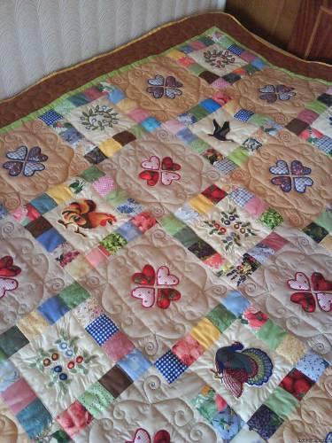 Лоскутное шитье схемы одеяло - Лоскутное шитье.  - Фотокаталог - покрывало цветы - Персональный сайт.